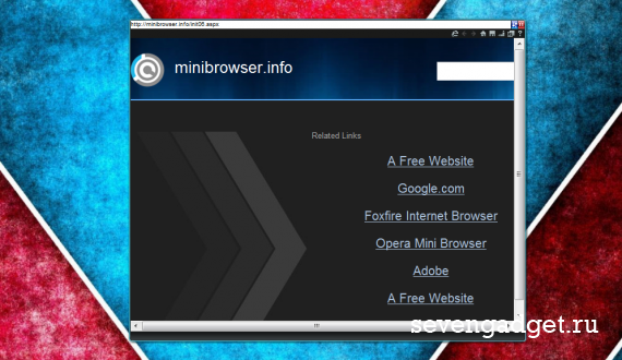 Mini-browser